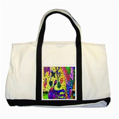 Grunge Abstract Yellow Hand Grunge Effect Layered Images Of Texture And Pattern In Yellow White Black Two Tone Tote Bag