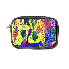 Grunge Abstract Yellow Hand Grunge Effect Layered Images Of Texture And Pattern In Yellow White Black Coin Purse