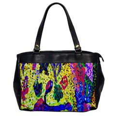 Grunge Abstract Yellow Hand Grunge Effect Layered Images Of Texture And Pattern In Yellow White Black Office Handbags