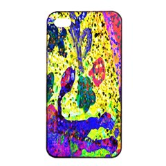 Grunge Abstract Yellow Hand Grunge Effect Layered Images Of Texture And Pattern In Yellow White Black Apple iPhone 4/4s Seamless Case (Black)