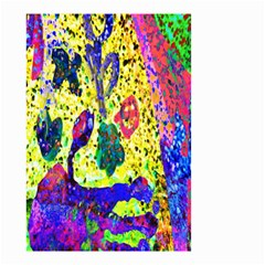 Grunge Abstract Yellow Hand Grunge Effect Layered Images Of Texture And Pattern In Yellow White Black Small Garden Flag (Two Sides)