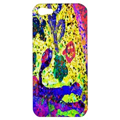 Grunge Abstract Yellow Hand Grunge Effect Layered Images Of Texture And Pattern In Yellow White Black Apple iPhone 5 Hardshell Case