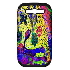 Grunge Abstract Yellow Hand Grunge Effect Layered Images Of Texture And Pattern In Yellow White Black Samsung Galaxy S Iii Hardshell Case (pc+silicone)