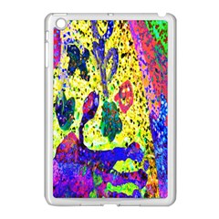 Grunge Abstract Yellow Hand Grunge Effect Layered Images Of Texture And Pattern In Yellow White Black Apple iPad Mini Case (White)