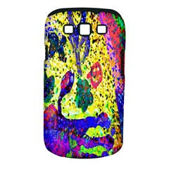 Grunge Abstract Yellow Hand Grunge Effect Layered Images Of Texture And Pattern In Yellow White Black Samsung Galaxy S III Classic Hardshell Case (PC+Silicone)