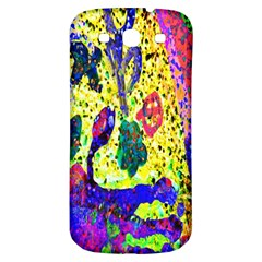 Grunge Abstract Yellow Hand Grunge Effect Layered Images Of Texture And Pattern In Yellow White Black Samsung Galaxy S3 S III Classic Hardshell Back Case