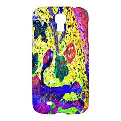 Grunge Abstract Yellow Hand Grunge Effect Layered Images Of Texture And Pattern In Yellow White Black Samsung Galaxy S4 I9500/I9505 Hardshell Case