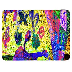 Grunge Abstract Yellow Hand Grunge Effect Layered Images Of Texture And Pattern In Yellow White Black Samsung Galaxy Tab 7  P1000 Flip Case