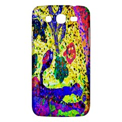 Grunge Abstract Yellow Hand Grunge Effect Layered Images Of Texture And Pattern In Yellow White Black Samsung Galaxy Mega 5.8 I9152 Hardshell Case