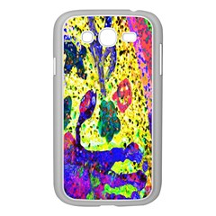 Grunge Abstract Yellow Hand Grunge Effect Layered Images Of Texture And Pattern In Yellow White Black Samsung Galaxy Grand DUOS I9082 Case (White)