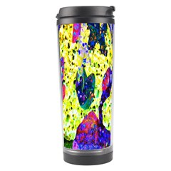 Grunge Abstract Yellow Hand Grunge Effect Layered Images Of Texture And Pattern In Yellow White Black Travel Tumbler