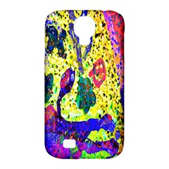 Grunge Abstract Yellow Hand Grunge Effect Layered Images Of Texture And Pattern In Yellow White Black Samsung Galaxy S4 Classic Hardshell Case (PC+Silicone)