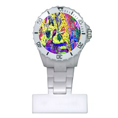 Grunge Abstract Yellow Hand Grunge Effect Layered Images Of Texture And Pattern In Yellow White Black Plastic Nurses Watch