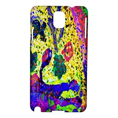 Grunge Abstract Yellow Hand Grunge Effect Layered Images Of Texture And Pattern In Yellow White Black Samsung Galaxy Note 3 N9005 Hardshell Case