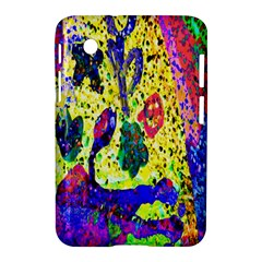 Grunge Abstract Yellow Hand Grunge Effect Layered Images Of Texture And Pattern In Yellow White Black Samsung Galaxy Tab 2 (7 ) P3100 Hardshell Case