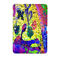 Grunge Abstract Yellow Hand Grunge Effect Layered Images Of Texture And Pattern In Yellow White Black Samsung Galaxy Tab 2 (10.1 ) P5100 Hardshell Case