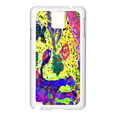 Grunge Abstract Yellow Hand Grunge Effect Layered Images Of Texture And Pattern In Yellow White Black Samsung Galaxy Note 3 N9005 Case (white)