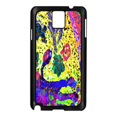 Grunge Abstract Yellow Hand Grunge Effect Layered Images Of Texture And Pattern In Yellow White Black Samsung Galaxy Note 3 N9005 Case (black)