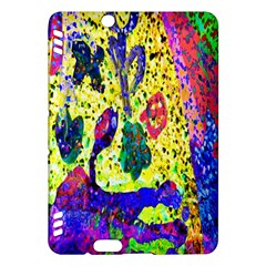 Grunge Abstract Yellow Hand Grunge Effect Layered Images Of Texture And Pattern In Yellow White Black Kindle Fire HDX Hardshell Case
