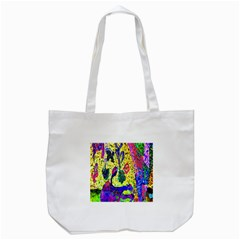 Grunge Abstract Yellow Hand Grunge Effect Layered Images Of Texture And Pattern In Yellow White Black Tote Bag (White)