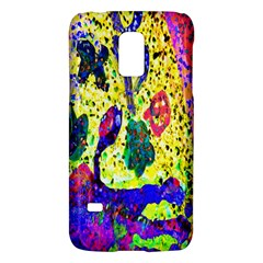 Grunge Abstract Yellow Hand Grunge Effect Layered Images Of Texture And Pattern In Yellow White Black Galaxy S5 Mini