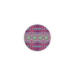 Colorful Seamless Background With Floral Elements 1  Mini Buttons