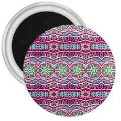 Colorful Seamless Background With Floral Elements 3  Magnets