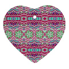 Colorful Seamless Background With Floral Elements Ornament (heart)