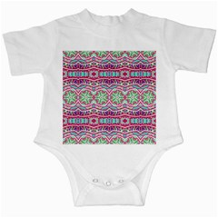 Colorful Seamless Background With Floral Elements Infant Creepers