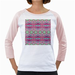 Colorful Seamless Background With Floral Elements Girly Raglans
