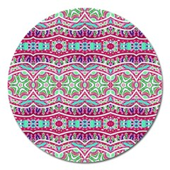 Colorful Seamless Background With Floral Elements Magnet 5  (round)