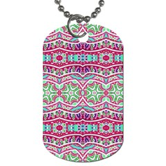 Colorful Seamless Background With Floral Elements Dog Tag (One Side)