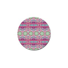 Colorful Seamless Background With Floral Elements Golf Ball Marker