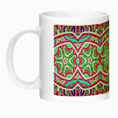 Colorful Seamless Background With Floral Elements Night Luminous Mugs