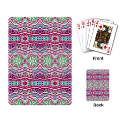 Colorful Seamless Background With Floral Elements Playing Card