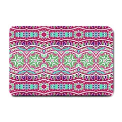 Colorful Seamless Background With Floral Elements Small Doormat