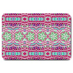 Colorful Seamless Background With Floral Elements Large Doormat