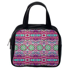 Colorful Seamless Background With Floral Elements Classic Handbags (One Side)