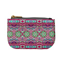 Colorful Seamless Background With Floral Elements Mini Coin Purses