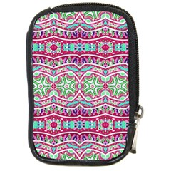 Colorful Seamless Background With Floral Elements Compact Camera Cases