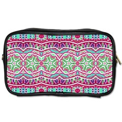 Colorful Seamless Background With Floral Elements Toiletries Bags 2 Side
