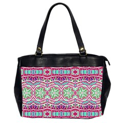 Colorful Seamless Background With Floral Elements Office Handbags (2 Sides)