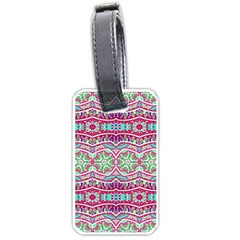 Colorful Seamless Background With Floral Elements Luggage Tags (two Sides)