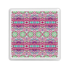 Colorful Seamless Background With Floral Elements Memory Card Reader (square)