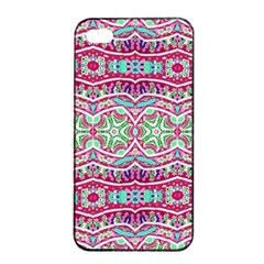 Colorful Seamless Background With Floral Elements Apple iPhone 4/4s Seamless Case (Black)