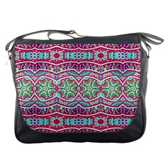 Colorful Seamless Background With Floral Elements Messenger Bags
