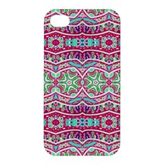 Colorful Seamless Background With Floral Elements Apple iPhone 4/4S Premium Hardshell Case
