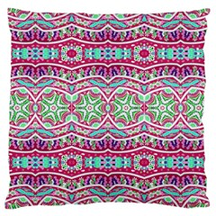 Colorful Seamless Background With Floral Elements Large Cushion Case (One Side)