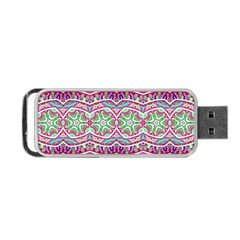 Colorful Seamless Background With Floral Elements Portable USB Flash (Two Sides)