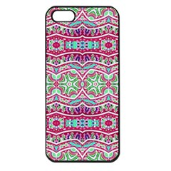 Colorful Seamless Background With Floral Elements Apple Iphone 5 Seamless Case (black)